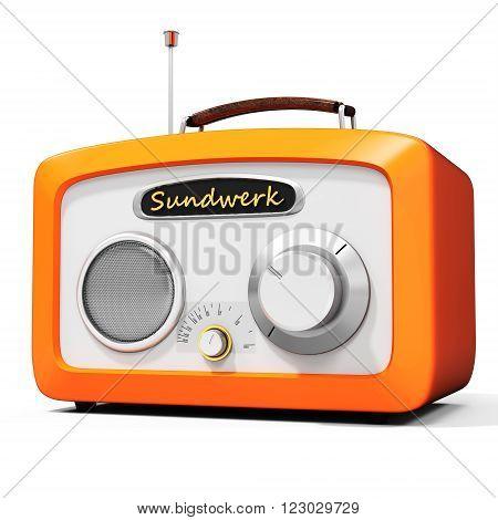 3D Generic Vintage Radio