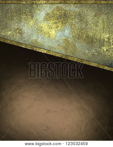 Brown Background With Grunge Plate. Template For Design. Copy Space For Ad Brochure Or Announcement