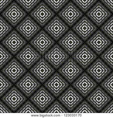 Seamless pattern monochromatic background, wallpaper with repetition geometric shape. Vector illustration of interlacing, fabric texture