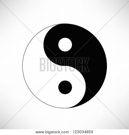 Yin Yang Symbol Isolated on White Background.