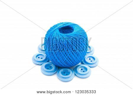 Blue Buttons And Thread