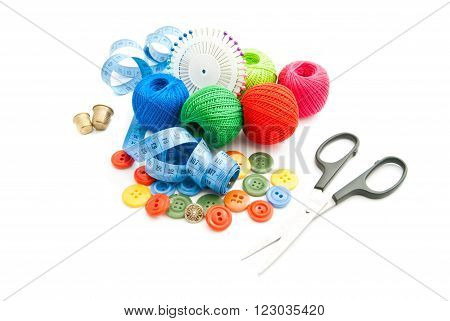 Pins, Meter, Buttons, Thimbles And Thread