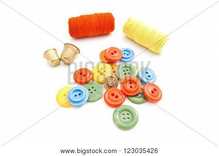 Buttons, Spools Of Thread And Thimbles