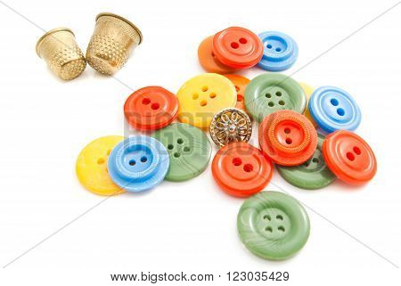 Pair Of Thimbles And Buttons