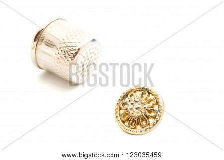 Plastic Button And Thimble