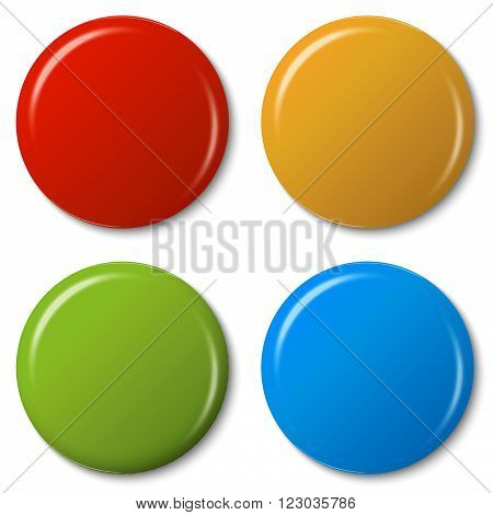 Four Colored Magnets