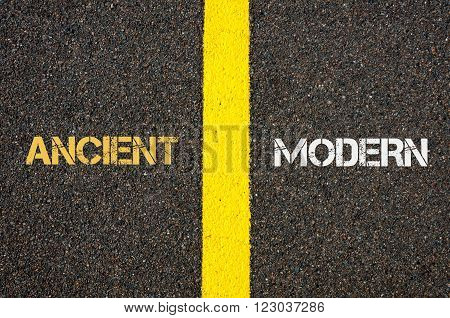 Antonym Concept Of Ancient Versus Modern