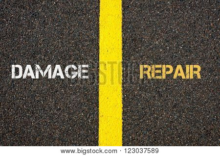 Antonym Concept Of Damage Versus Repair