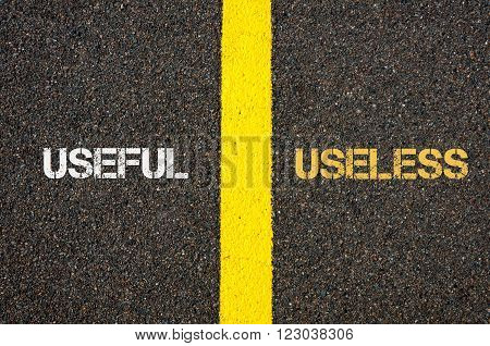 Antonym Concept Of Useful Versus Useless