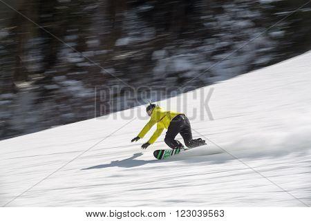 Snowboarder, snowboarding, fast snowboarder, snow, boarding, on piste, falling