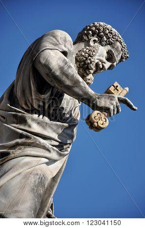 Statue Of Saint Peter In Saint Peter Square. Vatican City