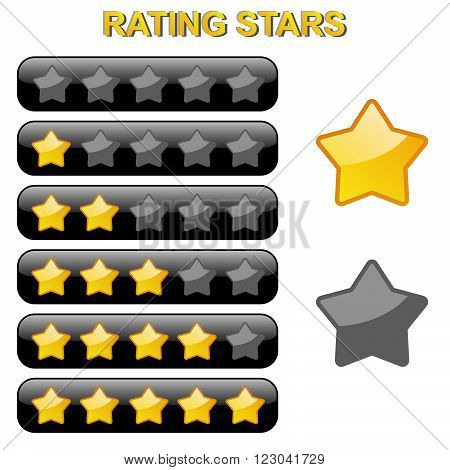 Rating Stars From 0 To 5