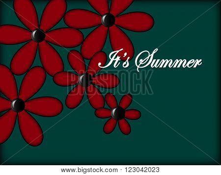 Bulk flowers and an inscription It's Summer