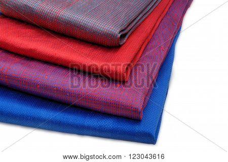 Silk fabrics, hand made and hand dye Thai silk