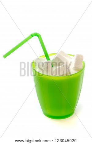 Glass With Straw Full Of Sugar