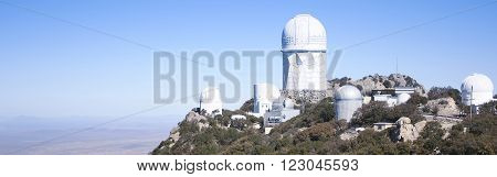 TUCSON, ARIZONA, FEBRUARY 28. Kitt Peak National Observatory on February 28, 2016, near Tucson, Arizona. A view of six telescopes at Kitt Peak National Observatory near Tucson Arizona.