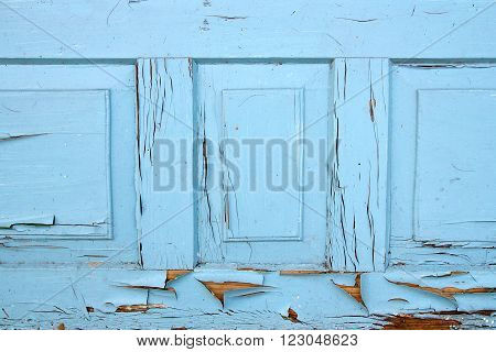 Old Woodan Wall, Shabby Paint As Background