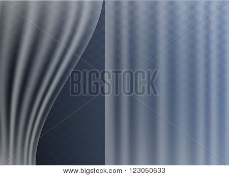 Transparent tulle on transparent background for your design