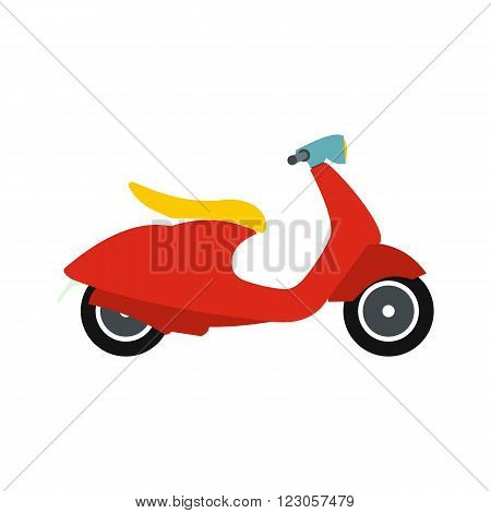 Classic scooter icon in flat style isolated on white background