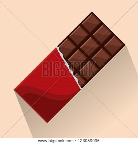 Chocolate concept with icon design, vector illustration 10 eps graphic.