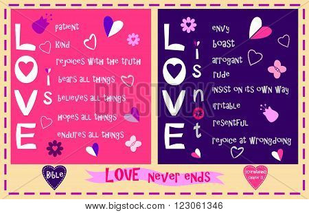 Love in 1 Corinthians the thirteenth Chapter