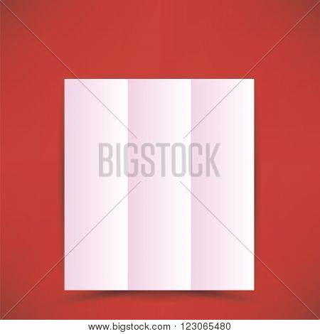 Pink Paper Brochure Isolated on Soft Red Background