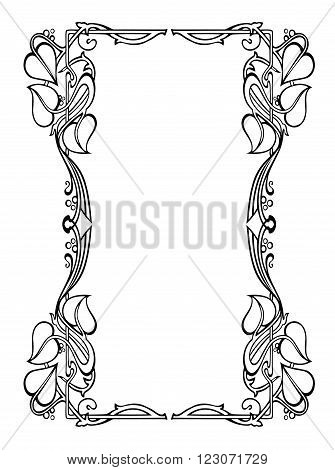 Book cover like Art Nouveau - Frame like Art Nouveau