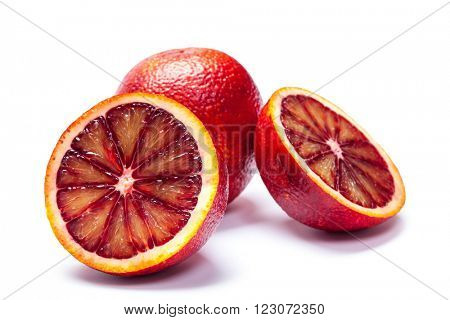 Sicilian orange isolated on a white background