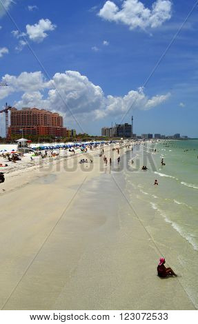 Clearwater Beach Florida USA - May 12 2015 :