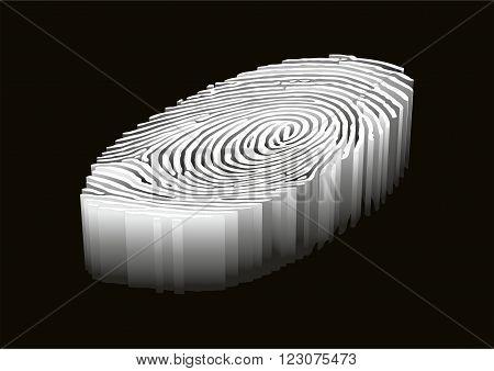 Fingerprint. Design abstract background. Vector illustration .