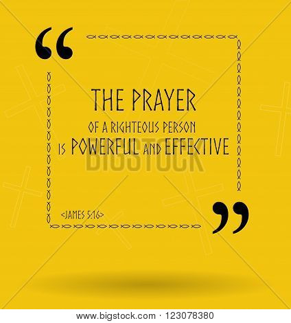 Best Bible quotes about the power of prayer. Christian sayings for Bible studies colourful illustration