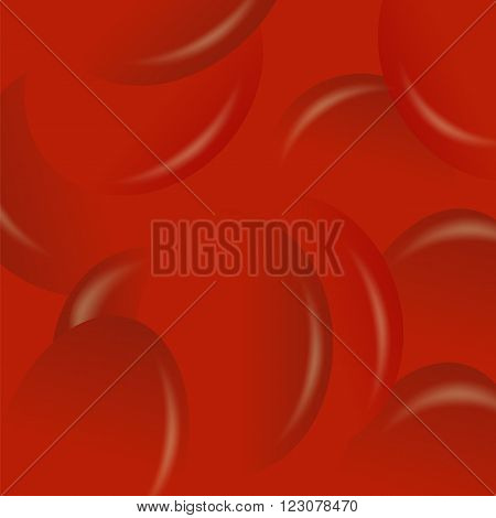 Red Candy Background. Set of Red Jelly Beans.