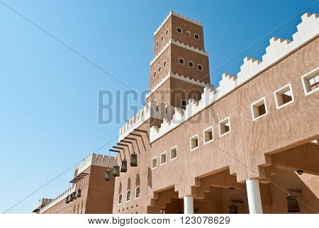 Saudi Arabia, a rebuilt palace in Dir'Aijah, the ancient kingdom capital, in Rijadh suburb