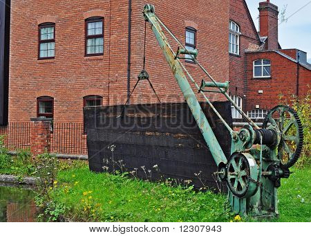 Old crane by the canal