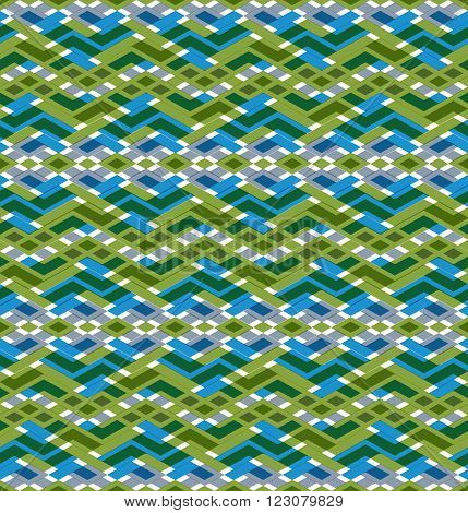 Geometric seamless pattern with transparent impose rhombs endless ethnic vector ornamental background. Never-ending colorful decorative composition.