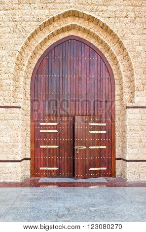 Jeddah, the main door of a rebuilded Turkish fort called 'The door of Jeddah' in the airport area.