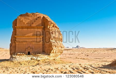 Madain Saleh, the archaeological site with the Nabatean tomb of the 1st century