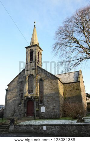 A winters day at the church in Carnock
