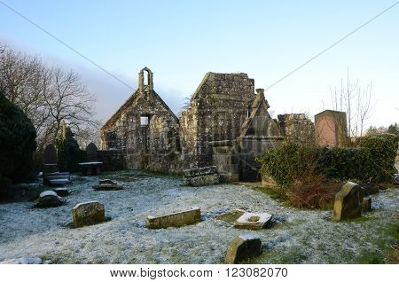 The ruins of an old church in the village of Carnock