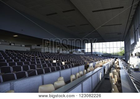 Interior Seating at Racetrack in Central Florida.
