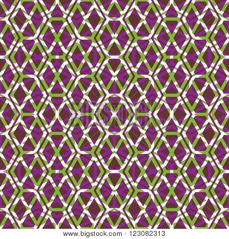 Bright symmetric endless pattern with stylized honeycombs transparent continuous creative artificial composition geometric motif background with overlapping rhombs and hexagons.