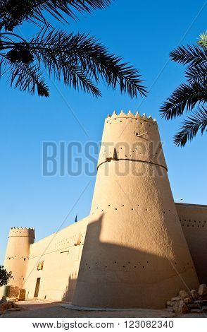 Rijadh,  Saudi Arabia - November 7, 2007: The Masmak Fortress (XIX century) in the old city center