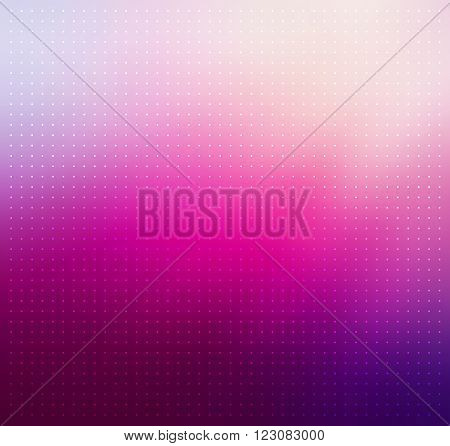 Purple colored blurry abstract background with dotted texture. Purple gradient background. Abstract background with halftone effect. Vector illustration