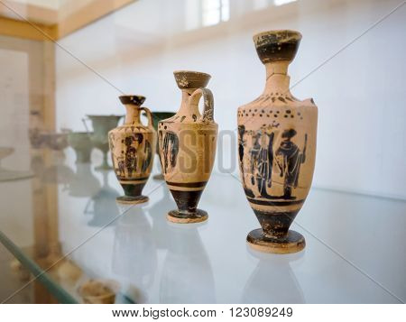 Old Caly Pot In A Greek Museum