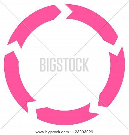 Circulation vector icon. Style is flat icon symbol, pink color, white background.