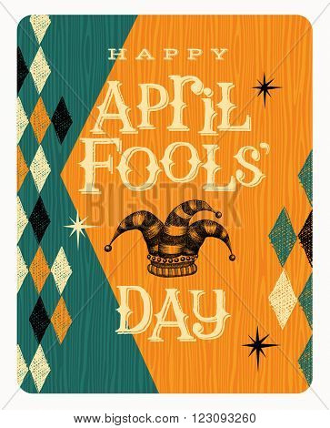 Vintage April Fools Day card or banner design
