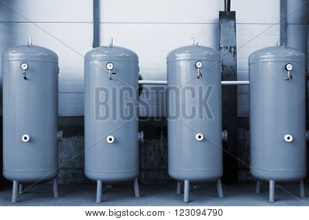 new gas tanks in a modern plant