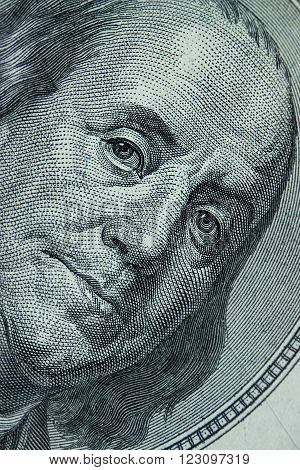 Close-up On Benjamin Franklin