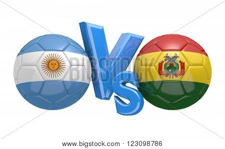 Preliminary competition football match between national teams Argentina and Bolivia