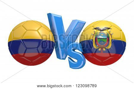 Preliminary competition football match between national teams Colombia and Ecuador